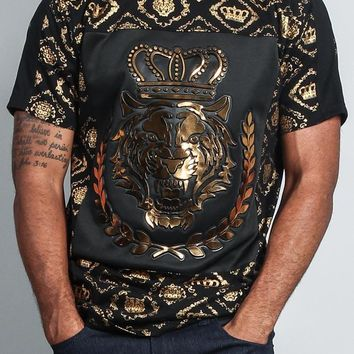 Crown Print Tiger T-Shirt