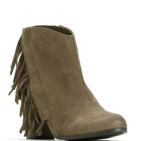 Sale-taupe Drive Me Wild Fringe Booties