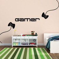 Wall Decal - X Box Game Controller for Kids' Rooms - Video Game