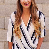 Cross Your Stripes Blouse