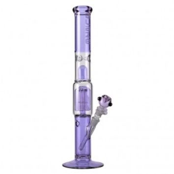 Blaze Glass - Premium 6-arm Perc Cylinder Tube - Violet - Bongs and Waterpipes - Smoking Pipes - Grasscity.com