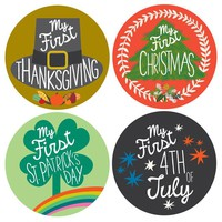 My First Holiday Baby Stickers