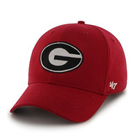 NCAA Georgia Bulldogs Basic Mvp Adjustable Hat, Youth, Red