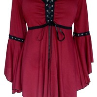 Dare To Wear Victorian Gothic Women's Ophelia Corset Top Burgundy Small