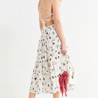 UO Sparks Fly Tiered Midi Dress | Urban Outfitters