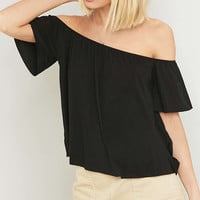 Light Before Dark Off-The-Shoulder Top - Urban Outfitters