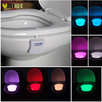 LED Motion Auto Sensor Activated Toilet Night Light Bathroom With 8 Color Nightlight