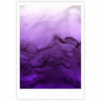 "Ebi Emporium ""Winter Waves 9"" Purple Abstract Fine Art Gallery Print"