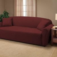 Ruby Jersey Futon Stretch Slipcover, Couch Cover
