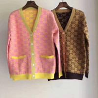 Gucci Women Gold wire Crochet Buttons Cardigan Knitwear