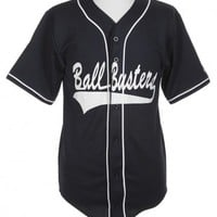 Ball Busters Navy Blue Baseball T-shirt - Vintage clothing from Rokit -