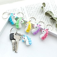 Cute Unicorn Charm Key Ring