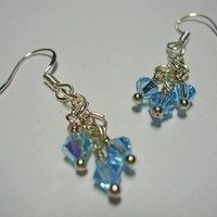 Simply Swarovski Earrings (light blue)