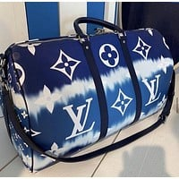 Louis Vuitton classic color matching printing fashion casual large-capacity travel bag handbag shoulder messenger bag