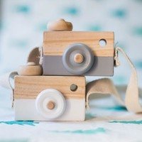 Lovely Wooden Camera Toys For Baby Kids Room Decor Furnishing Articles Child Christmas Birthday Gifts European Style