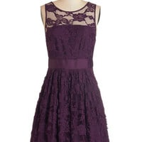 BB Dakota Mid-length Sleeveless A-line When the Night Comes Dress in Plum