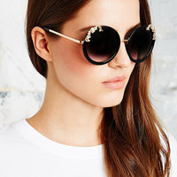 Filigree Detail Round Sunglasses - Urban Outfitters