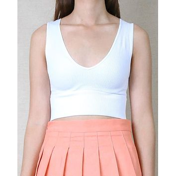 Penelope Plunge V-neck Crop Top in More Colors