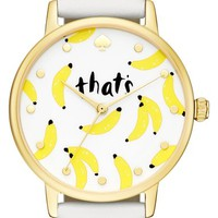 kate spade new york 'metro' leather strap watch, 34mm   Nordstrom