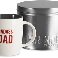 Badass Dad Coffee Mug and Gift Tin Box