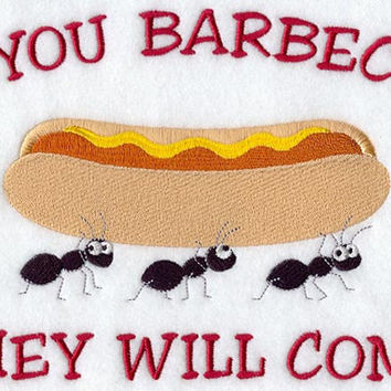 If You Barbecue They Will Come Men's Apron BBQ Apron Father's Day Gift, Birthday Gift, Host Gift