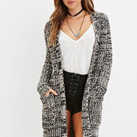 Open-Front Marled Cardigan