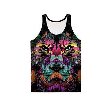 Abstract Lion Tank Top