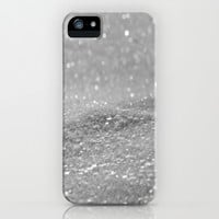 Glitter Silver iPhone & iPod Case by Alice Gosling