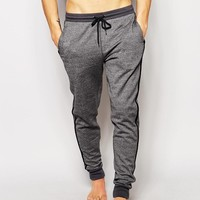 ASOS | ASOS Loungwear Skinny Joggers In Heavyweight With Contrast Stripe at ASOS