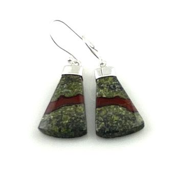 Dragon's Blood Jasper Sterling Silver Earrings