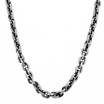 """925 Sterling Silver Heavy Cable Biker Chain 20"""""""