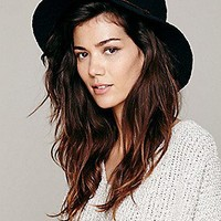 Crochet Canvas Brimmed Hat at Free People Clothing Boutique