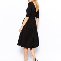 ASOS Midi Dress With Wrap Back