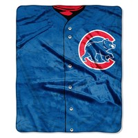 Chicago Cubs MLB Royal Plush Raschel Blanket (Jersey Series) (50in x 60in)