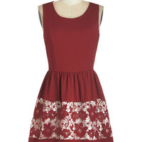 ModCloth Mid-length Sleeveless A-line Simple to Foresee Dress