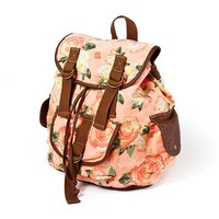 Orange Floral Backpack  | Claire's