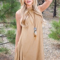 Blaire Suede Dress - Natural