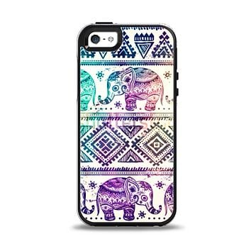 The Tie-Dyed Aztec Elephant Pattern Apple iPhone 5-5s Otterbox Symmetry Case Skin Set