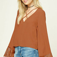 Contemporary Strappy-Front Top