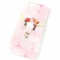 Floral Bohemian Skull iPhone Case