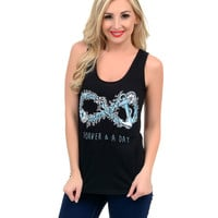 Black & Blue Anchor 'Forever & A Day' Darlin' Tank Top