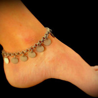 Sexy Summer Anklet - Dangling Antique Silver Coins