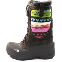The North Face Girl's/Kid Shellista Lace Novelty Brown/Pink Knit Boots