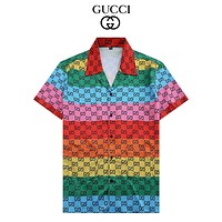 Dior GG Men's and Women's Double G Printed POLO Shirt Short Sleeve T-shirt