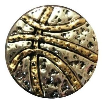 Metal Basketball Snap 20mm for Snap Jewelry