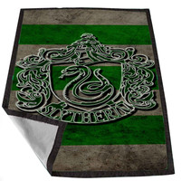 Harry Potter Slytherin Crest 27e625cb-166f-4f9c-81fc-dee4fb8a3732 for Kids Blanket, Fleece Blanket Cute and Awesome Blanket for your bedding, Blanket fleece *02*