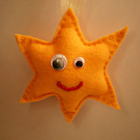 Yellow Star Ornaments/Tree Derocation/Home Decor