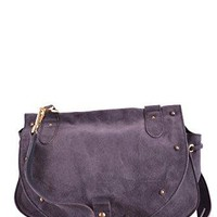See By Chloé Women's MCBI273023O Purple Suede Shoulder Bag