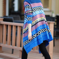 Whirling/ Spring Open No Button cotton blue coat