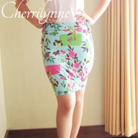 Bodycon Skirt with Smocking Detail - one of a kind